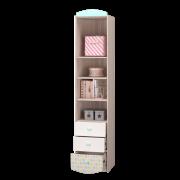 Шкаф для книг с ящиками и дверкой [внутреннее наполнение]