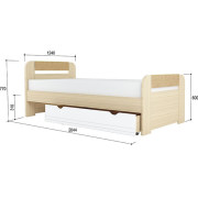 «Стиль 1200.3» Кровать с основанием ЛДСП Кофе с молоком NEW