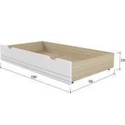 «Стиль 1200.3» Кровать с основанием ЛДСП Кофе с молоком NEW_