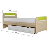 «Стиль 1200.3» Кровать с основанием ЛДСП Лайм NEW