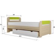 «Стиль 900.3» Кровать с основанием ЛДСП Лайм NEW