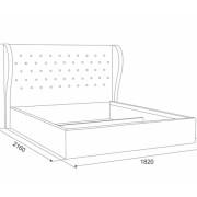 Кровать Жасмин размерная схема