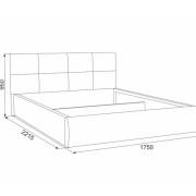 Мягкая кровать Куба  размерная схема