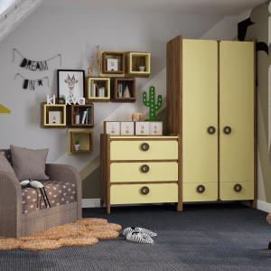 Детская комната Мини Дуб табачный + лимонный сорбет