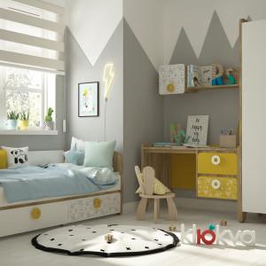 Детская комната Мини Дуб золотой+ белый +Sketch