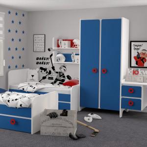 Детская комната Мини Королевский синий + белый