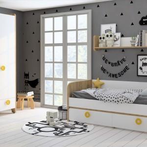 Детская комната Мини дуб золотой+белый